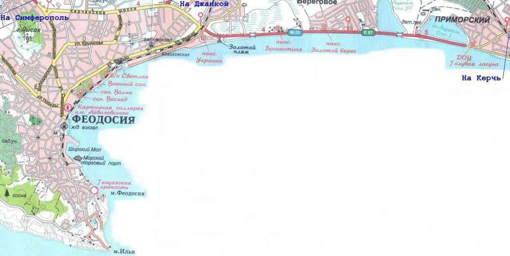 как добраться из феодосии до пгт приморский по морю